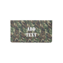 Military Green Camouflage Pattern Checkbook Cover