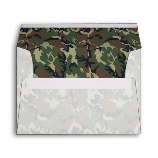 Military Green Camouflage Pattern Envelopes