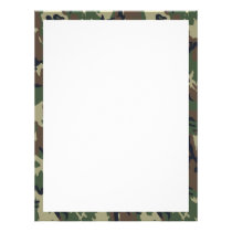 Military Green Camouflage Pattern Flyer