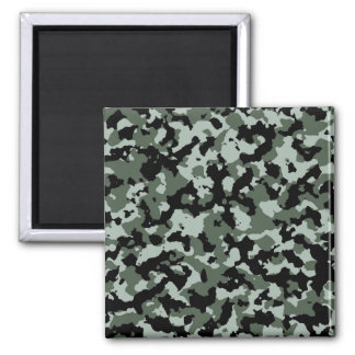 Military Green Camouflage Pattern Magnet