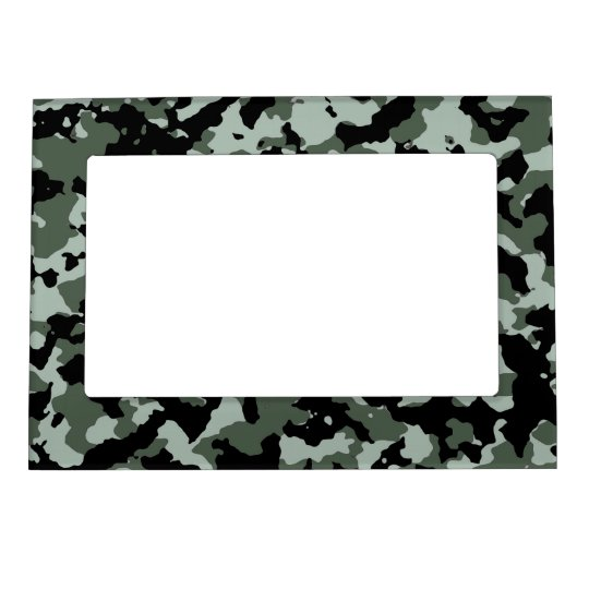Military Green Camouflage Pattern Magnetic Photo Frame Zazzle Com