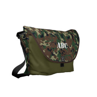 Military Green Camouflage Pattern Messenger Bag