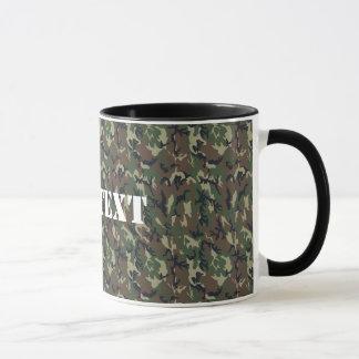 Military Green Camouflage Pattern Mug