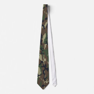 Military Green Camouflage Pattern Neck Tie