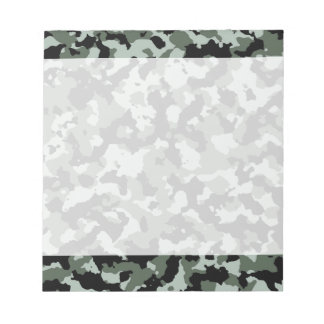 Military Green Camouflage Pattern Notepad