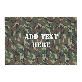 Military Green Camouflage Pattern Placemat