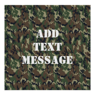 Military Green Camouflage Pattern Poster