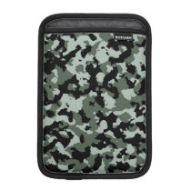 Military Green Camouflage Pattern Sleeve For iPad Mini