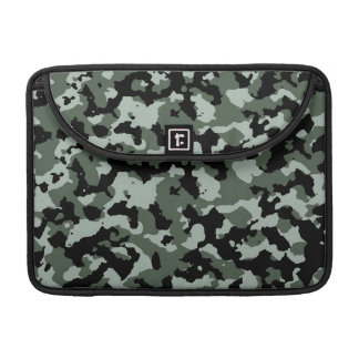 Military Green Camouflage Pattern Sleeves For MacBooks
