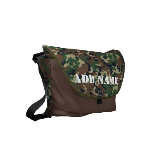 Military Green Camouflage Pattern Small Messenger Bag