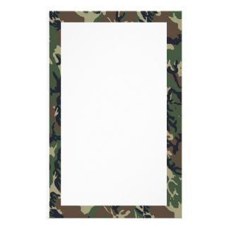 Military Green Camouflage Pattern Stationery