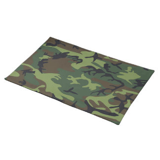 Military Green Camouflage Placemat
