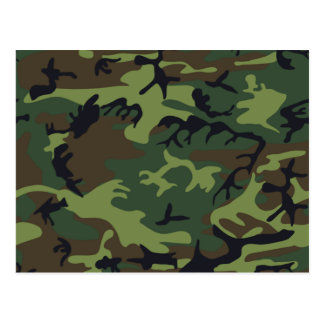 Military Green Camouflage Postcard