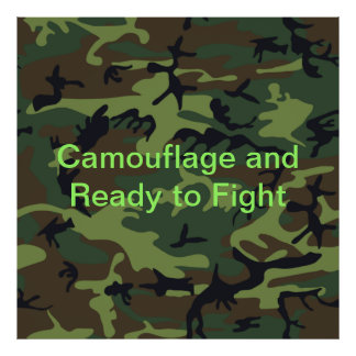 Military Green Camouflage Poster
