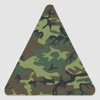 Military Green Camouflage Triangle Sticker
