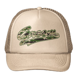 Military Groom Camouflage Trucker Hat