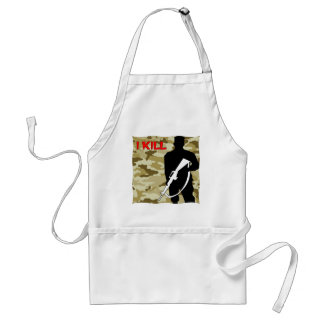 Military Grunt I Kill Adult Apron