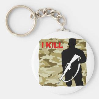 Military Grunt I Kill Keychain