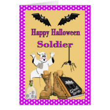 Military Halloween Card for Soldier