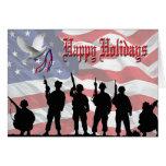 Military Happy Holidays Card