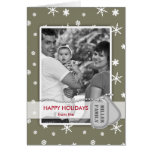 Military Happy Holidays Photo Card (Army Green)