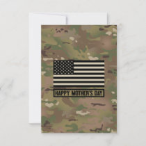 Military - Happy Mother's Day Thank You Card