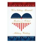 "Military Heart Wedding Invitation Personalized 5"" X 7"" Invitation Card"