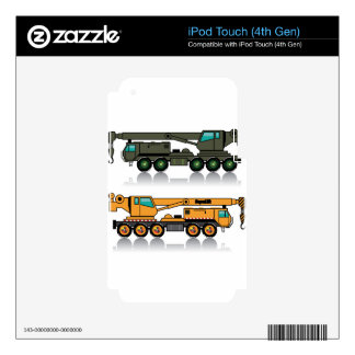 Military heavy crane truck iPod touch 4G skin