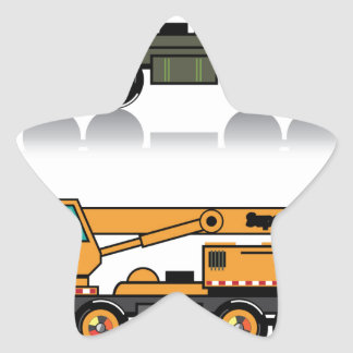 Military heavy crane truck star sticker