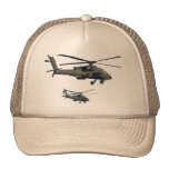 Military Helicopter Baseball Cap Trucker Hat