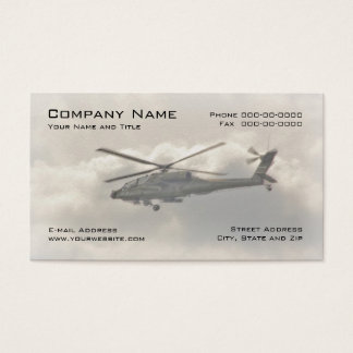 Military Helicopter Business Card