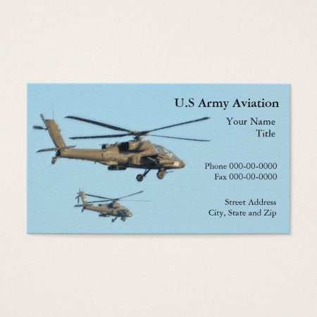 Military Helicopters Business Cards