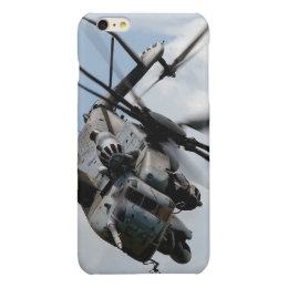 Military helicopter glossy iPhone 6 plus case