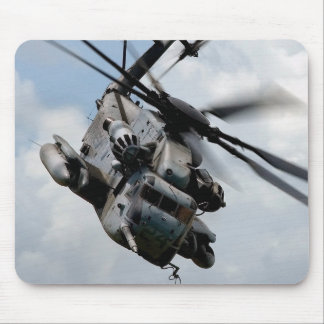 Military helicopter mouse pad