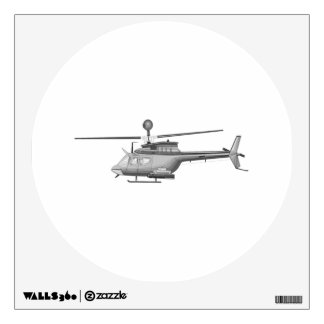 Military Helicopter Wall Sticker