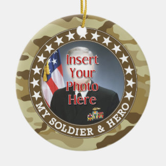 Military Hero - Camouflage Design DOUBLE-SIDED Ceramic Ornament