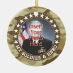 Military Hero - Camouflage Design DOUBLE-SIDED Ornaments