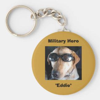 """Military Hero, """"Eddie"""" Basic Round Button Keychain"""