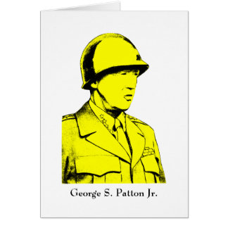 Military Hero - General Patton Card