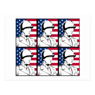 Military Hero - General Patton Postcard