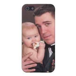 Military Hero I Love My Soldier Photo Custom Camo iPhone SE/5/5s Case