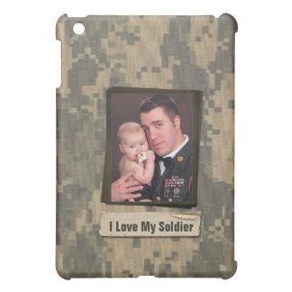 Military Hero I Love My Soldier Photo Frame Custom Case For The iPad Mini