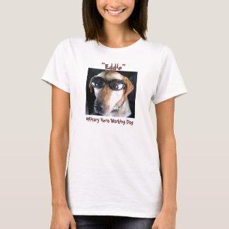 """Military Hero Working Dog """"Eddie"""" T-Shirt"""