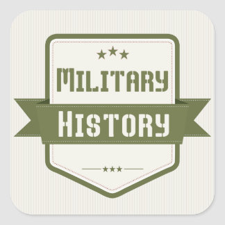 Military History Genre Book Cover Square Stickers