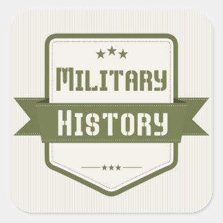 Military History Genre Book Cover Square Stickers