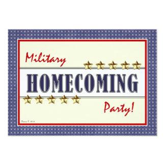 Military Homecoming Stars Party Invitation