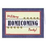 Military Homecoming Stars Party Invitation Cards
