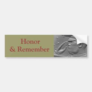 Military Honor Heroes & Veterans Bumper Sticker