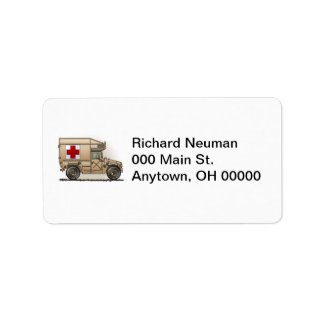 Military Hummer Ambulance Address Label