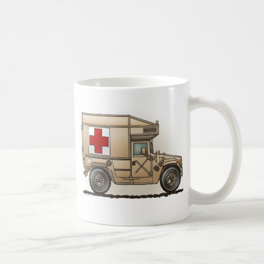 Military Hummer Ambulance Mug